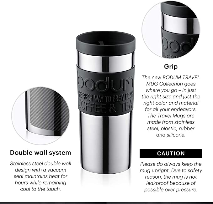 Bodum 11103-340B-Y19 TRAVEL MUG Thermobecher Kunststoff