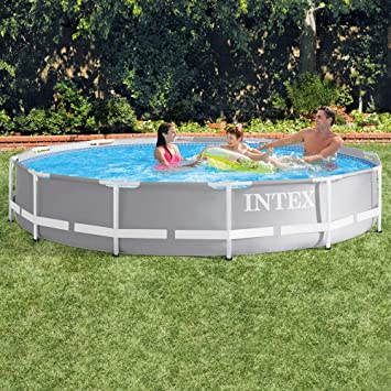 Intex 26710NP - Piscina desmontable redonda Prisma Frame 366 x 76 cm: Amazon.es: Jardín
