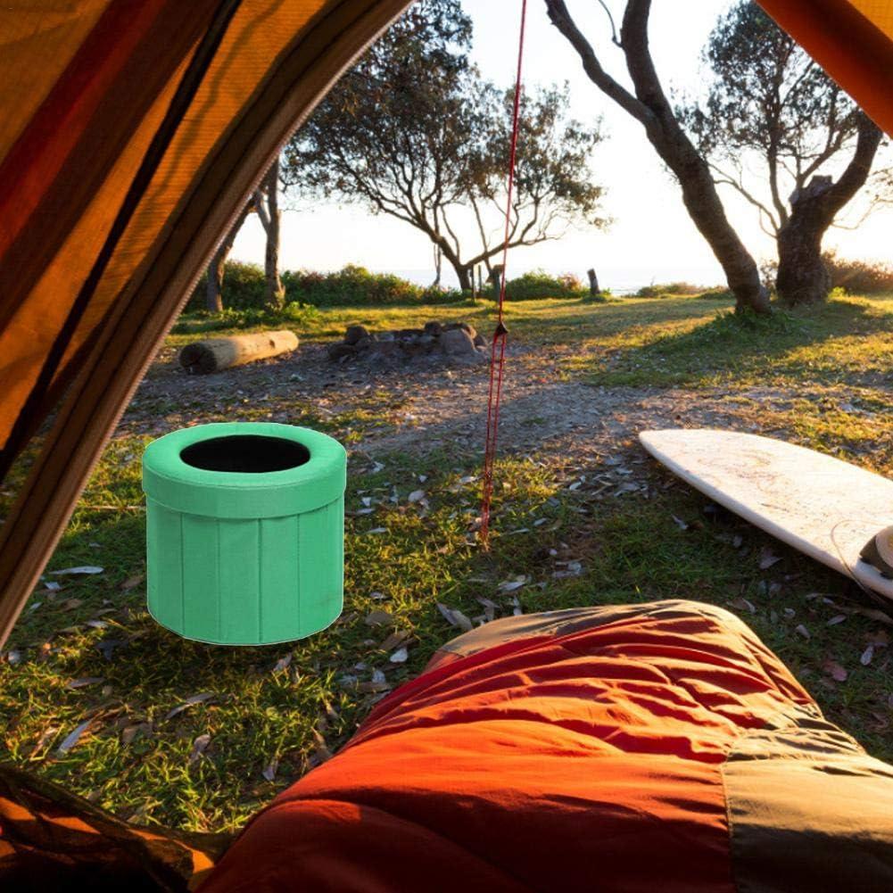 Amarillo | Inodoro Port/átil Asiento De Inodoro Para Viajes Largos Por Carretera Campo De Juegos Tela C/ómoda Y Duradera Aire Libre Y Uso Dom/éstico Tren Inodoro Plegable Para Acampar Camping