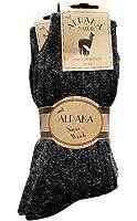 2 Paar Alpaka Socken Wollsocken besonders kuschelig warm für Sie&Ihn