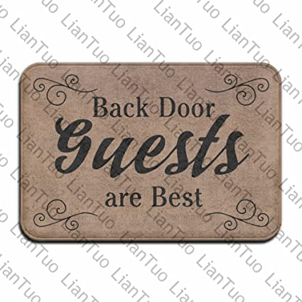 Back Door Guests Are Best Vintage 15.7 X 23.6 In Absorbent Anti Slip Floor  Rug Carpet