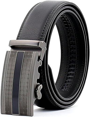 KHC Mens Leather Ratchet Dress Belt with Automatic Adjustable Buckle,Oversized