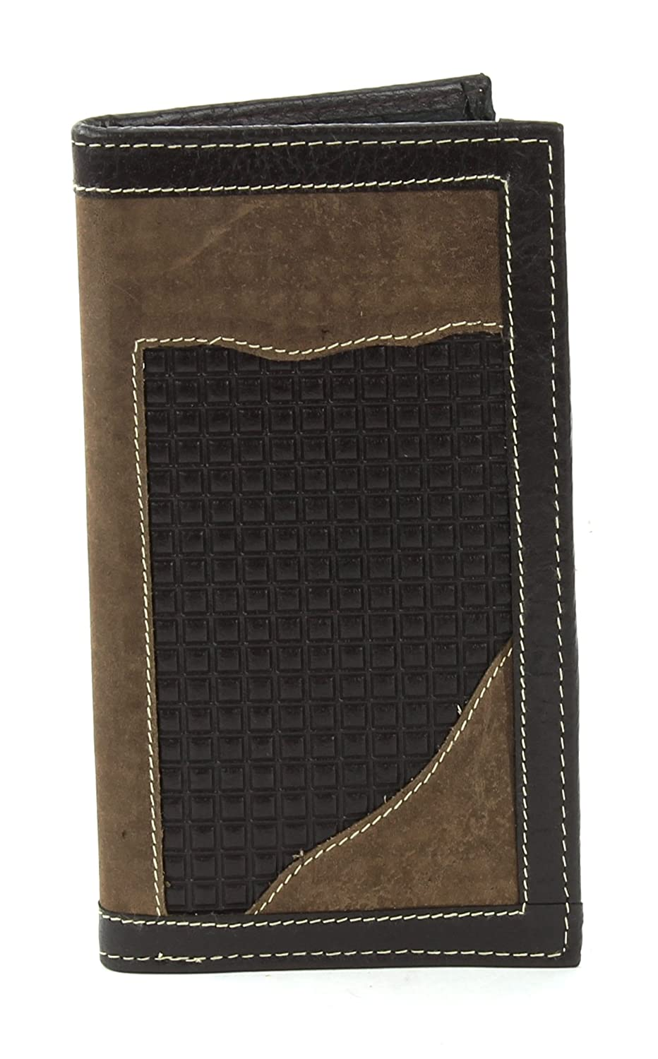Assorted Styles Bacci Genuine Leather Checkbook Cover Bifold Wallet /& Multi Card Case Rodeo Western Style