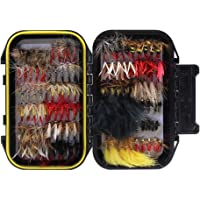 Croch 60/120pcs Fly Fishing Dry Flies Wet Flies Assortment Kit with Waterproof Fly Box for Trout Fishing …