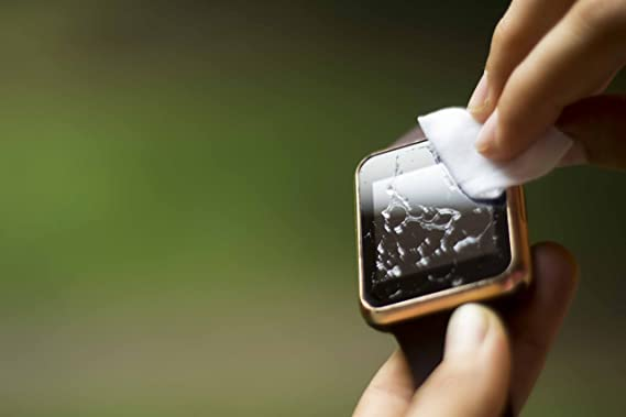 Tiburón prueba líquido cristal wipe-on Protector de pantalla invisible, resistencia a los arañazos y sin burbujas. Se adapta para cualquier reloj ...