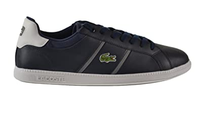 e190c605b5ad Lacoste Graduate EVO CTS SPM Leather Men s Shoes Dark Blue White  7-28spm0211-