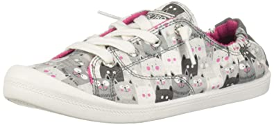 Skechers Women's Beach Bingo Kitty Concert Sneaker