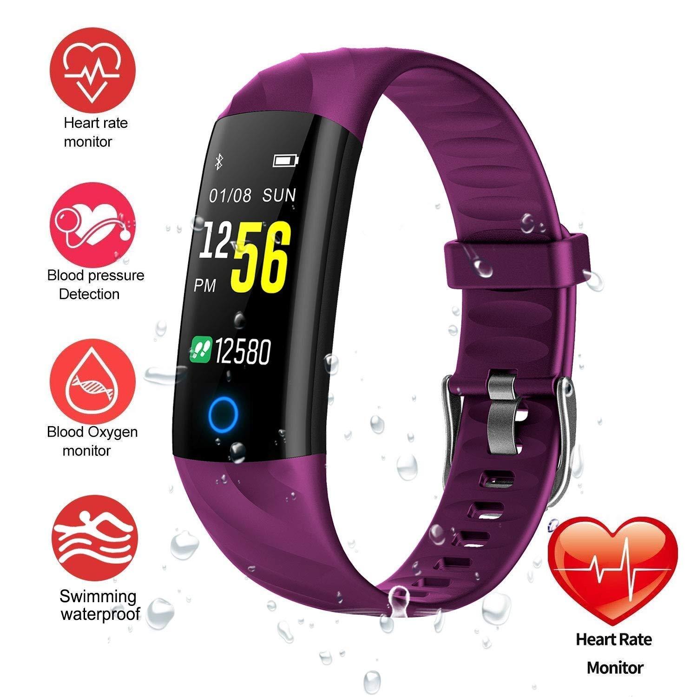 Fitness Tracker Watch, Smart Bracelet IP68 Waterproof Swim ...