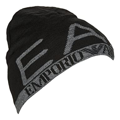 Emporio Armani EA7 Black Beanie Hat 275560 8A301 Small  Amazon.co.uk   Clothing 12a89c16df5f