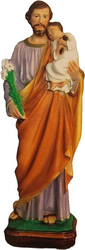 Amazon Com Estatua De San José Ferrari Arrighetti En Yeso Pintado A Mano 19 7 In Kitchen Dining