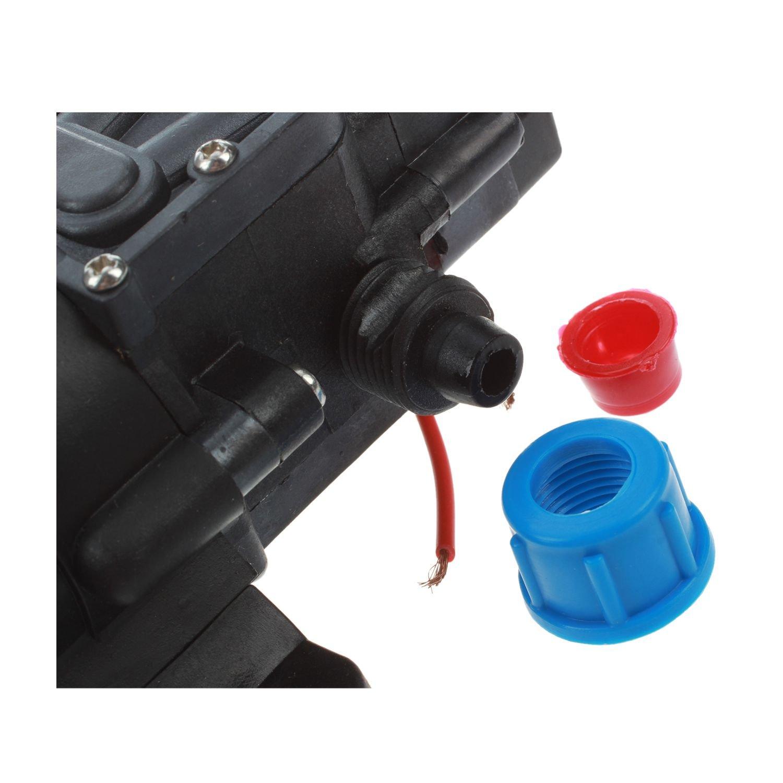 min 60W mini Pompe electrique a membrane a eau de haute pression pour la voiture Cikuso 12V DC 5L