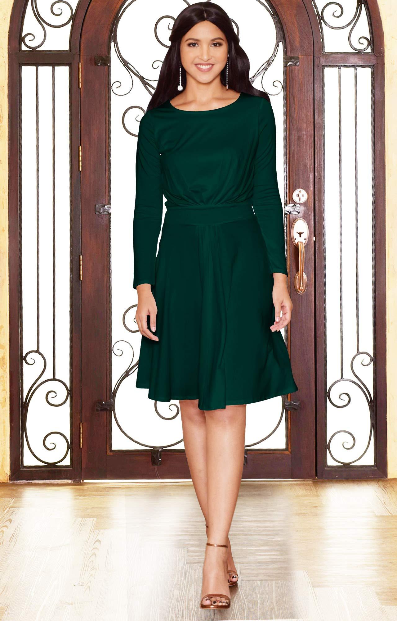 0effe86fce65 ... Fall Winter Formal Flowy Work Empire Waist Knee Length Vintage Swing  Modest Cute Abaya Mini Midi Dress Dresses
