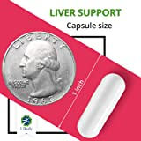 Liver Cleanse and Support Supplement - Milk Thistle Extract (Silymarin), Turmeric Curcumin, Dandelion Root, Artichoke, N Acetyl L Cysteine, Vitamin B12 and More in 2 Vegetarian Capsules