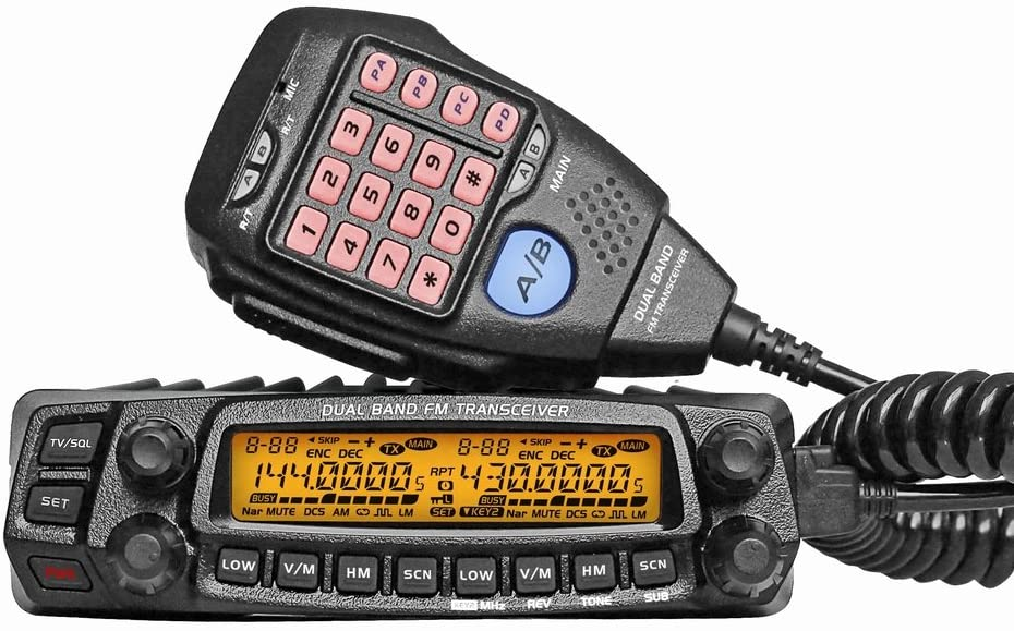 AnyTone AT-5888UV Dual Band Mobile Transceiver 50W//40W 136-174 /& 400-490 MHz Two Way Amateur Radio w//F Programming Cable