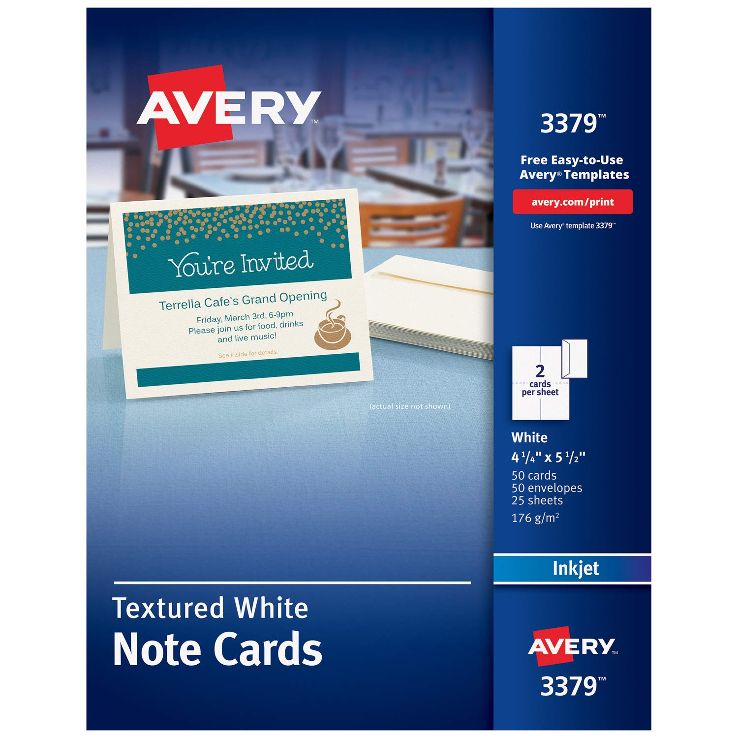 Amazon Avery Printable Note Cards Inkjet Printers 50 Cards