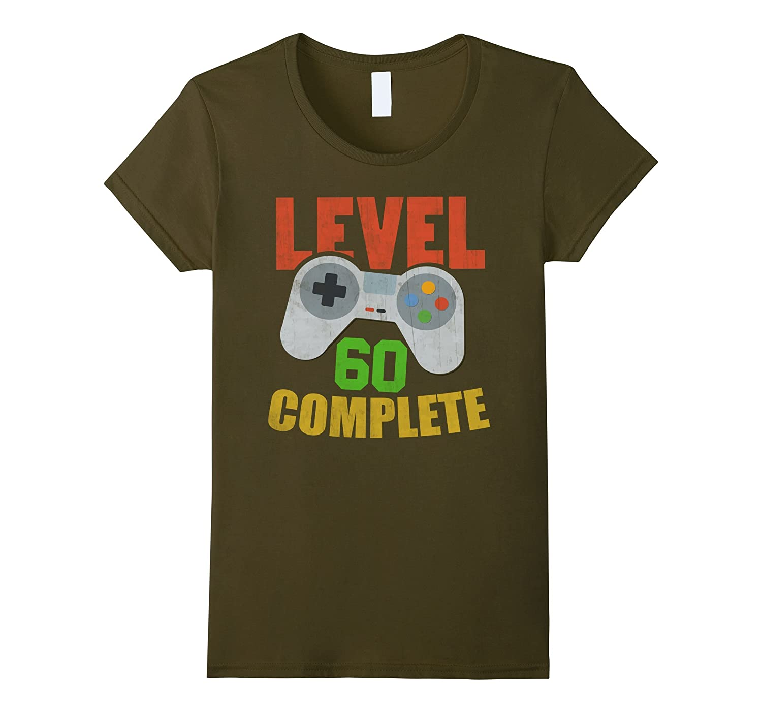 Amazon Level 60 Complete Video Gamer Geek 60th Birthday Gift Shirt Clothing