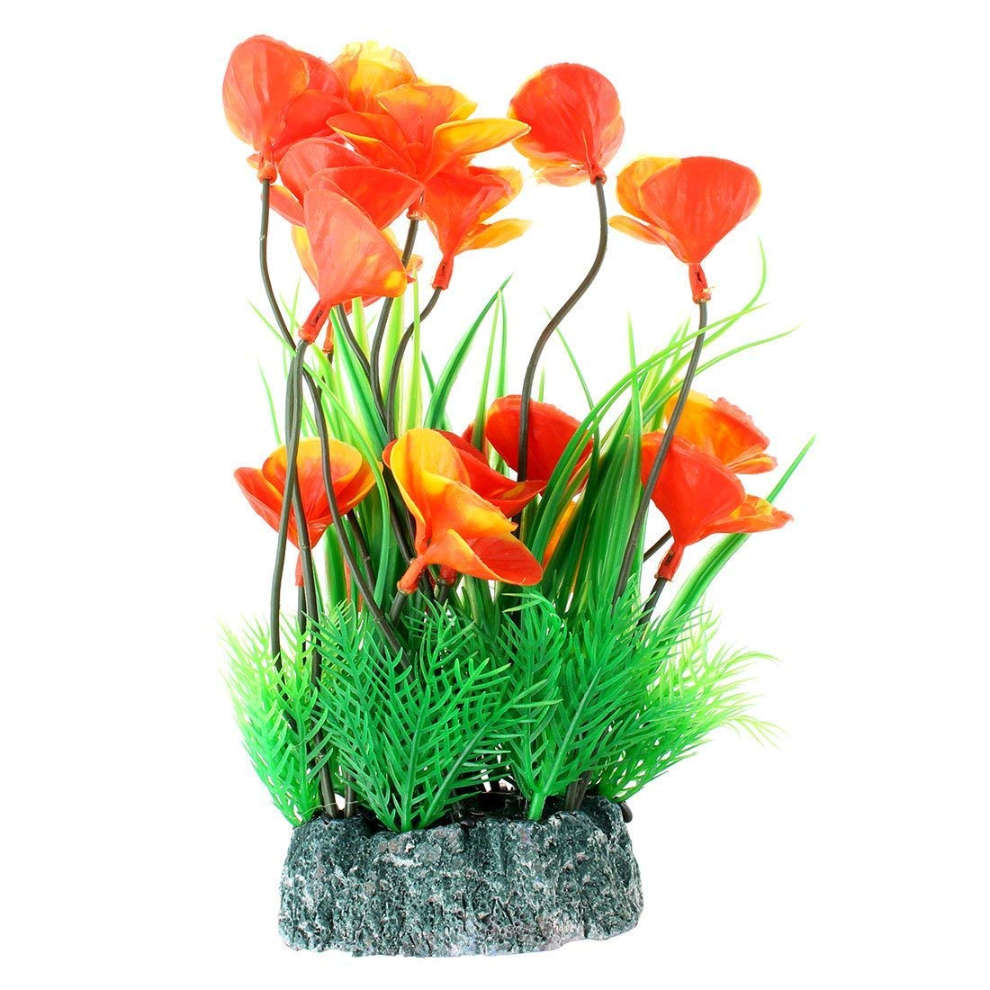 1Pc Silicone Fish Tank Emulational Glowing Water Plant Coral Decoration 25cm Height