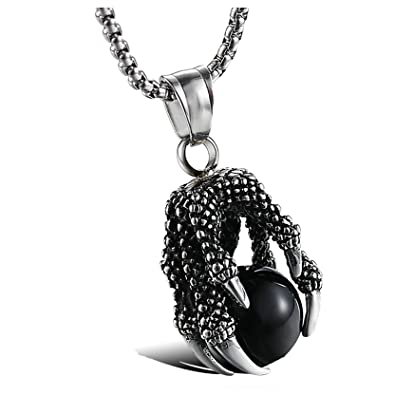 collier homme griffe