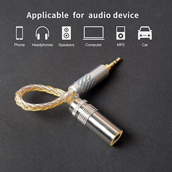 Okcsc Adapter Für Kopfhörer Audios 4 4 Mm Buchse Auf 3 5 Mm Stecker Symmetrischer Ausgang Adapter Für Symmetrische Kabel Vergoldeter Stecker M3f4 Gold Silber Musikinstrumente