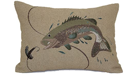 Amazon Brentwood Originals 40 Jumping Bass Tapestry Pillow Adorable Better Homes And Gardens Langston Collection Oblong Decorative Pillow