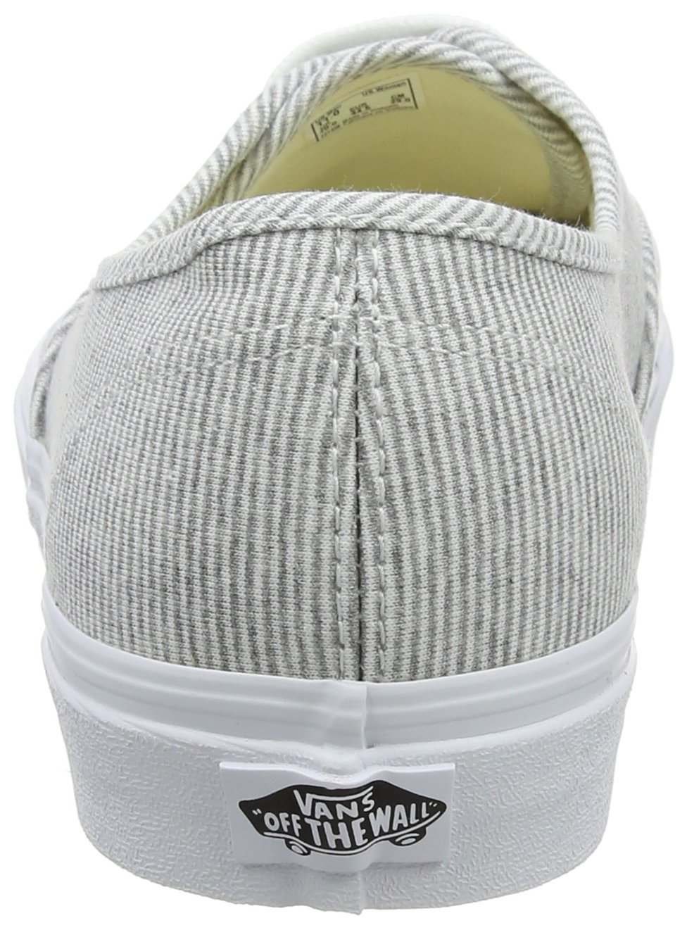 Vans Unisex Authentic Canvas US Shoes B076CV8QYQ 8 M US Canvas Women / 6.5 M US Men|Gray/True White 3475d3