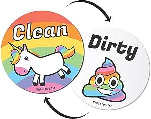 Willa Flare Imán para lavaplatos, diseño de Unicornio y Caca con imanes de Emoji, pequeño, Genial, magnético, para organización y Almacenamiento de ...