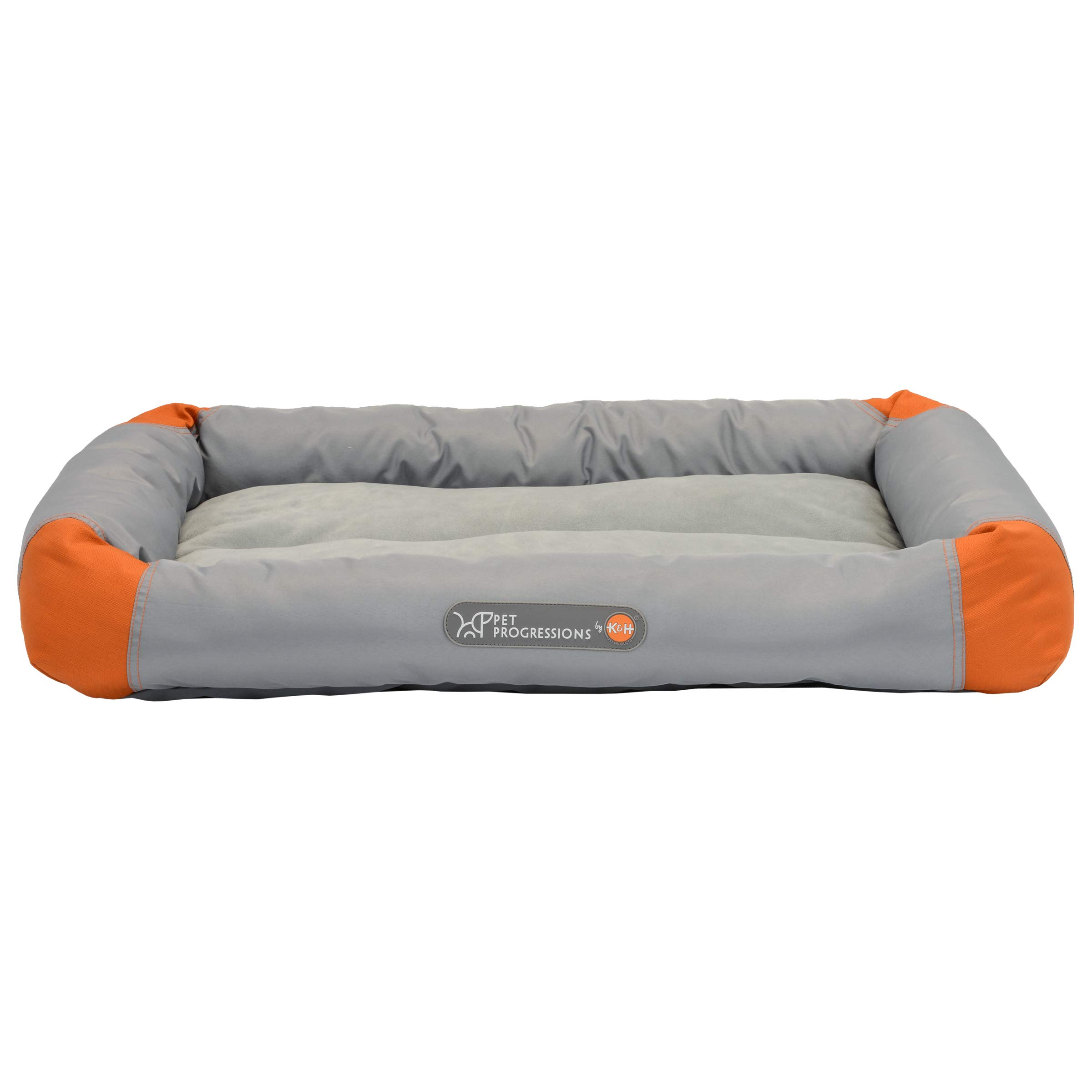 Pet Progressions by K&H Waterproof Puppy Bolster Pet Pad Large Grey - Piddle Proof, Stain & Odor Resistant, and Tear Resistant for Puppies & Adult Dogs