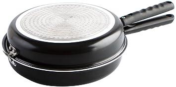 Quid Gastro Fun - Sartén doble para tortilla, 28 cm, aluminio estampado,dale