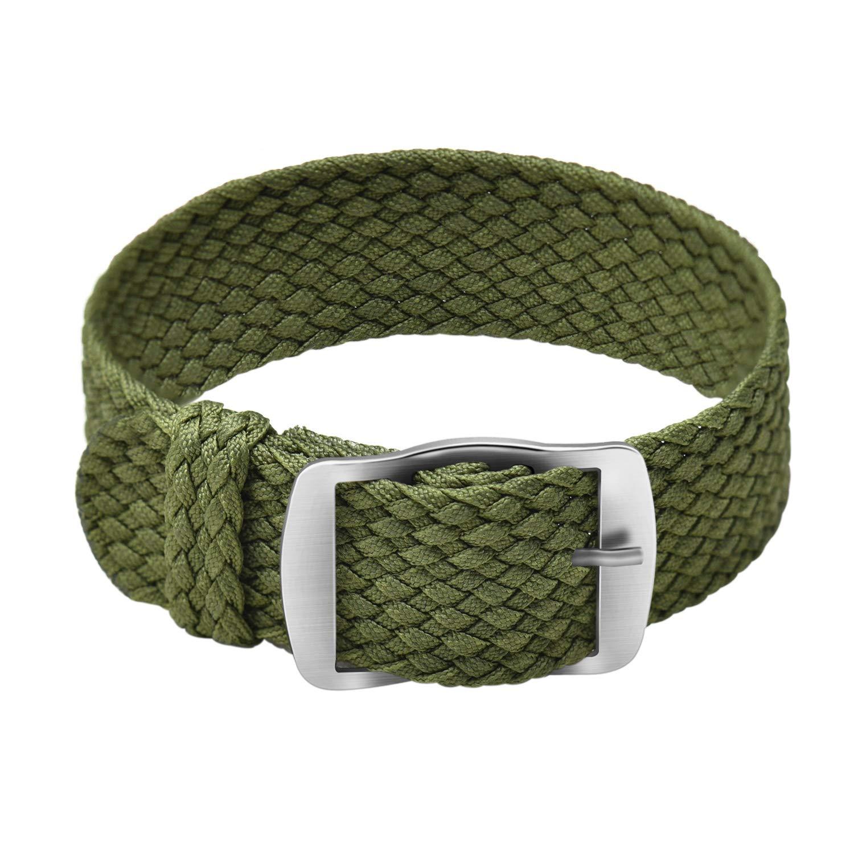 Ullchro Nylon Watch Strap Perlon Braided Woven Watch Band NATO Men Women - 14 16 18 20 22 mm