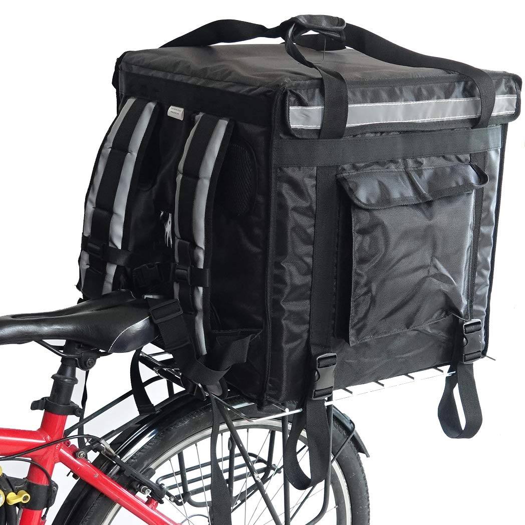PK-92V: Large Rigid Heavy Duty Food Delivery Box for Motorcycle, Top Loading, 18