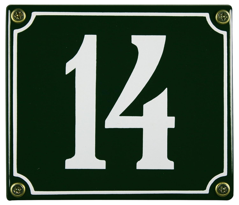 FastGame plaque é mail ré sistant aux intempé ries vert 12 14 x 14 cm-livraison immé diate numé ro emailleschild Buddel-Bini hn-117