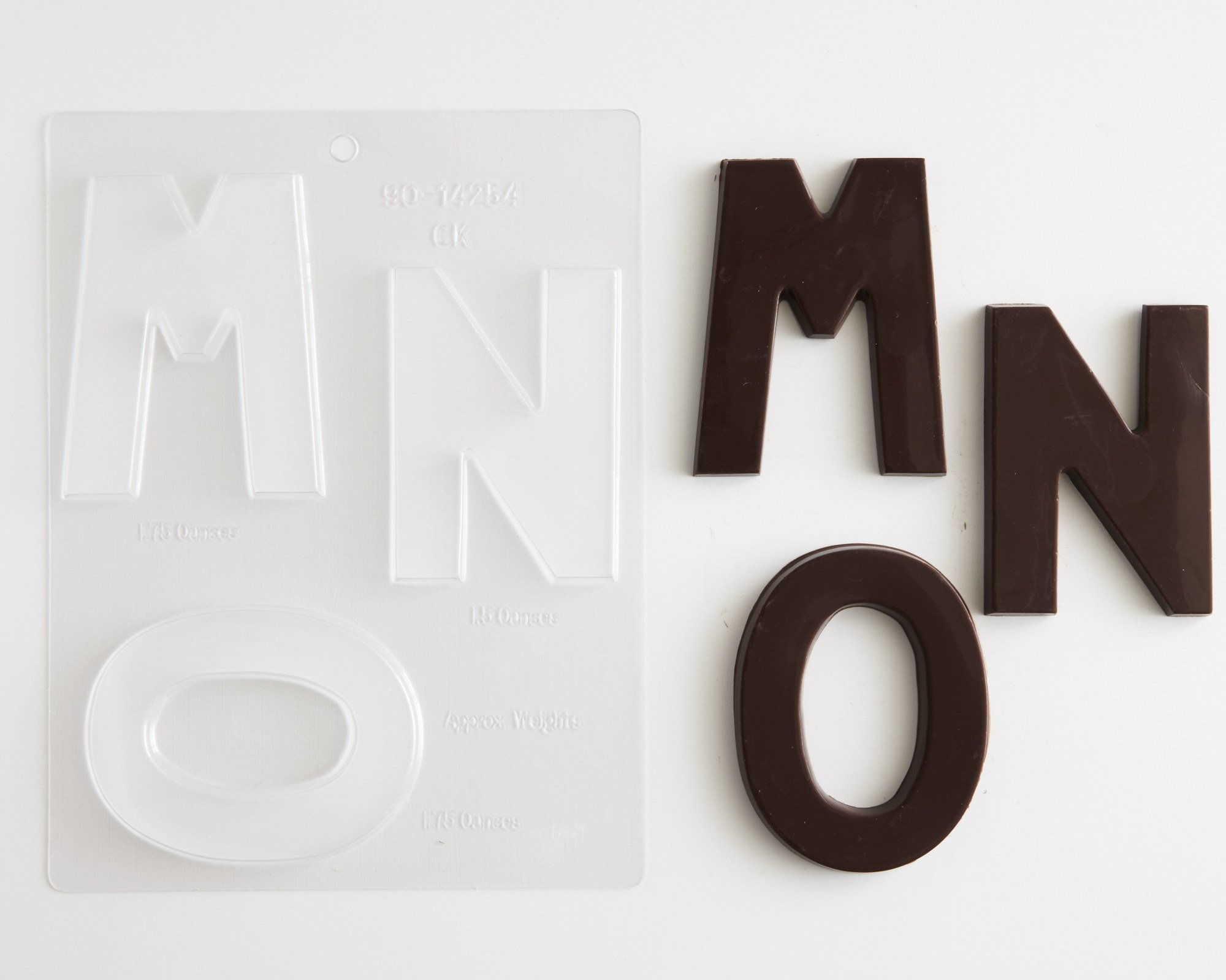 Large Block Letters Chocolate Candy Molds - A - Z (8) 4'' Letter Alphabet Set (Cakegirls Chocolate Mold Instructions Included) by Cakegirls (Image #5)