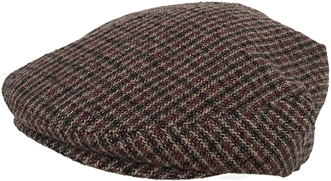 23d375a80c8 Plaid Wool Blend Ivy Scally Cap Houndstooth Driver Hat Newsboy Flat ...