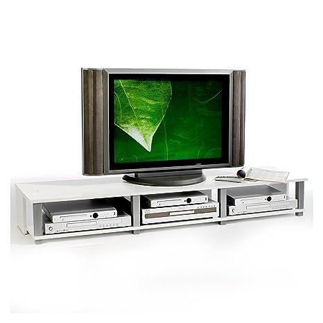 Idimex Tv Mobel Lowboard Fernsehtisch Tv Tisch Tv Element Kimi Weiss Foliert