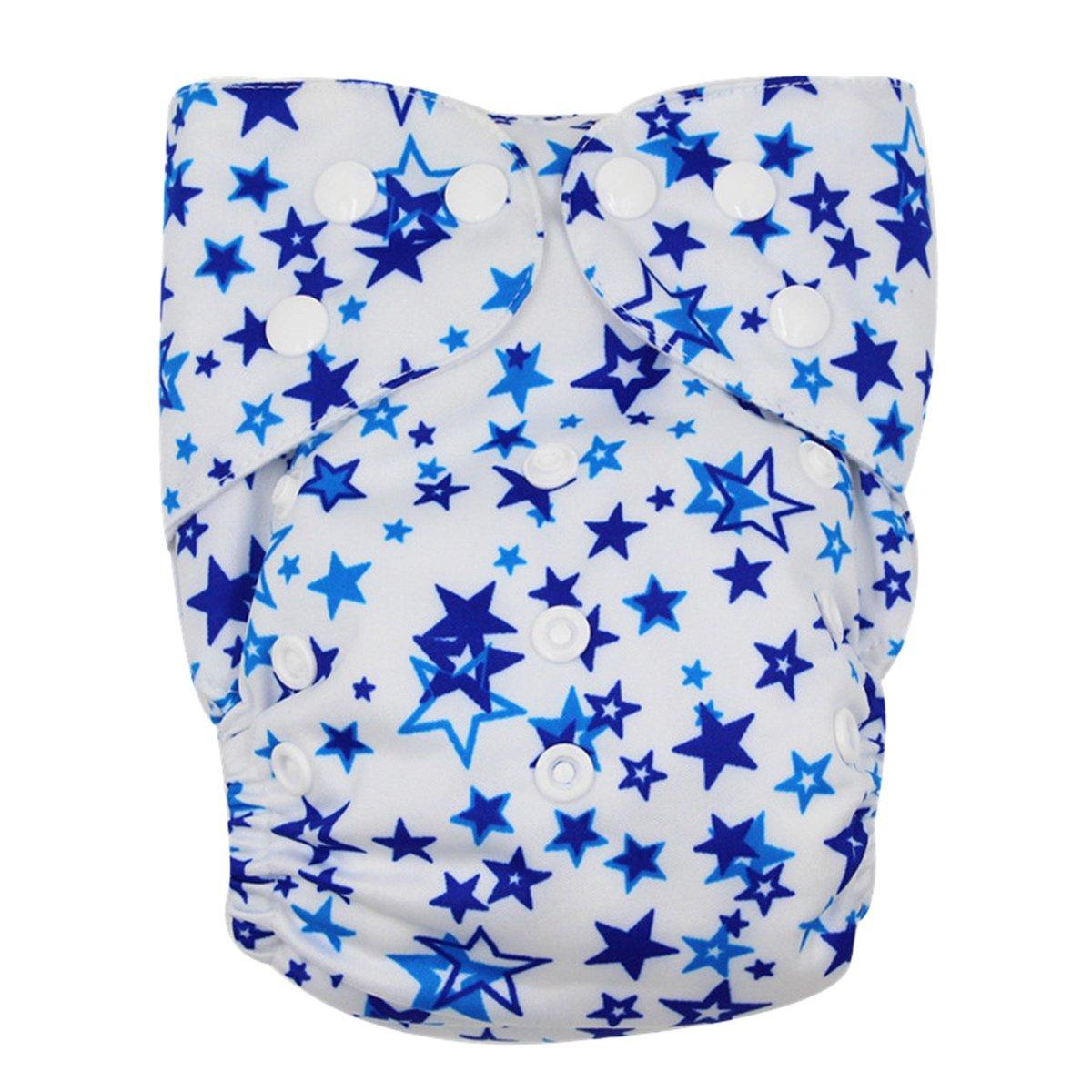 Happy Cherry Bébé Naissances Culottes d'apprentissage Lavables Pantalon Couche Avec Bouton Taille Réglable - Étoile