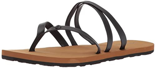 d9572af4ce0d Volcom Women s Easy Breezy Jesus Thong Synthetic Leather Sandal Flat