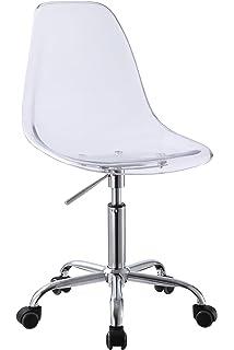 retro acrylic hydraulic lift adjustable height swivel office desk chair clear 3801 5 acrylic office chair