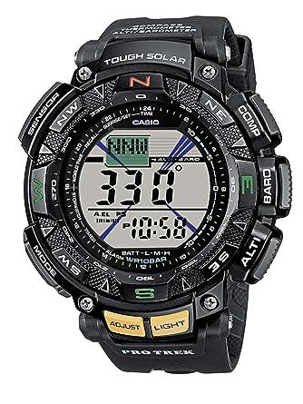 b64d9889b2d3 Amazon.com  Casio PRG-240-1ER Mens Pro-Trek Solar Powered Sports Watch   Casio  Watches