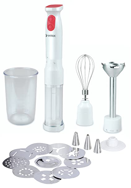 VITEK Hand Blender With Snack Making Attachment Hand Blenders at amazon