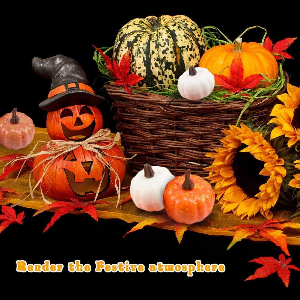 Dihope Citrouilles Artificielles L/égumes Feuilles d/érable Automne D/écoration dOrnements pour Halloween Thanksgiving Mariage Ext/érieur Int/érieur