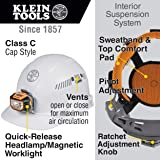Klein Tools 60113 Hard Hat with Light, Vented Cap