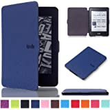 Kindle Paperwhite Case, MOKASE Premium Leather Magnetic Waterproof Case Cover for Amazon Kindle Paperwhite 1 2 3 (Fits 2012,2013,2015,2016 Ver) with Auto Wake Sleep, Darkblue