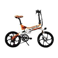 RICH BIT RT730 Vélo électrique pliant pour homme/femme 250W 48V 20'' double suspension, 7 vitesses, dérailleur Shimano, batterie LG, freinage à double disque, alliage de magnésium