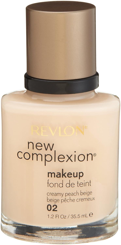 Revlon New Complexion Makeup, Creamy Peach Beige, 1.2 Ounces