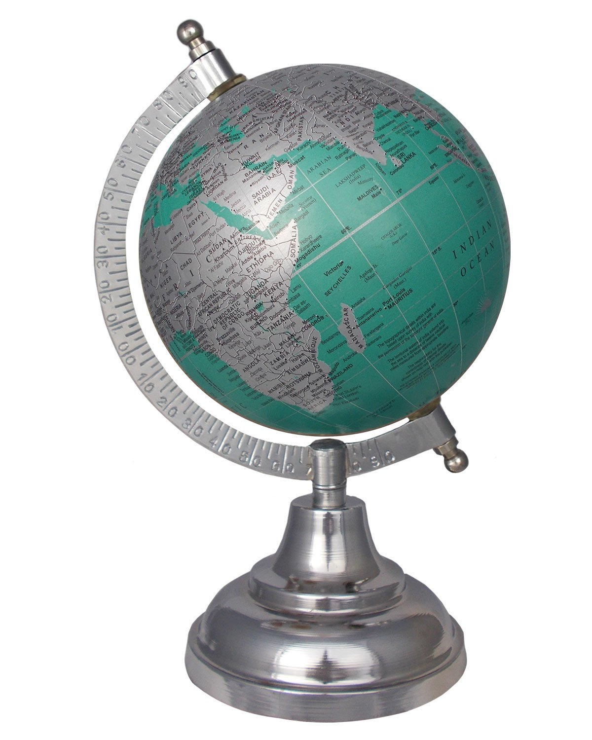 MasterpieceIndia Geographical Vintage Educational 5 Inches Diameter World Earth Desktop Gift Decor Office Home Decorative Tabletop Globe