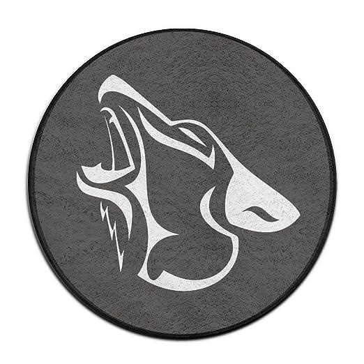 Lobo aullando tatuaje al aire libre redonda Felpudo 60 cm de ...