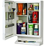 Truphe White New Look Bathroom Cabinet with 1 Year Warranty- Bathroom Cabinet With Mirror White