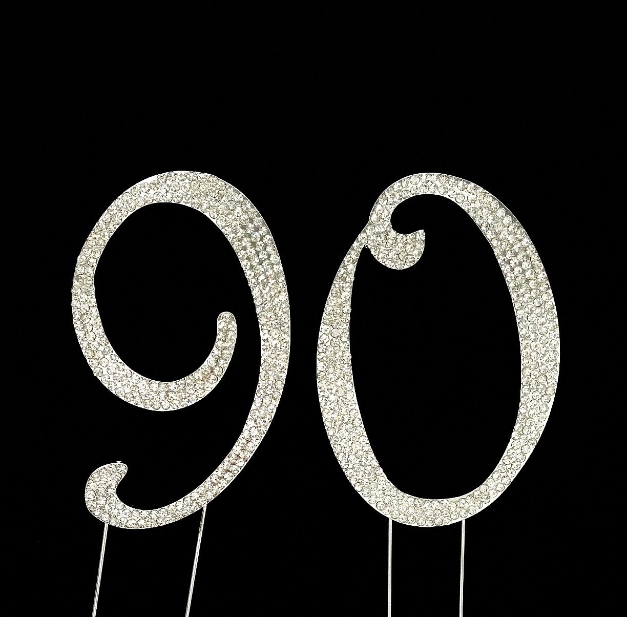 Amazoncom Large 90th Birthday Number Cake Topper with Sparkling