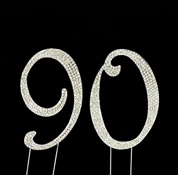 Image Unavailable Not Available For Color Large 90th Birthday Number Cake Topper