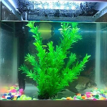 Viviving - Plantas artificiales de acuario, 2 unidades, 22,8 cm de alto, plantas de plástico para peceras